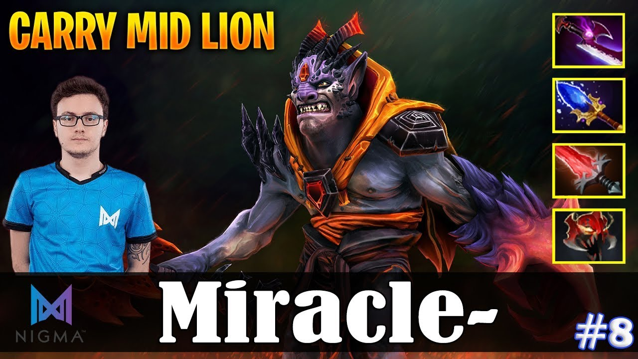 Miracle Lion Carry Mid Lion Dota 2 Pro Mmr Gameplay 8 Youtube