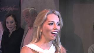 Lindsay McCormick has dinner at Craig's Restaurant in West Hollywood
