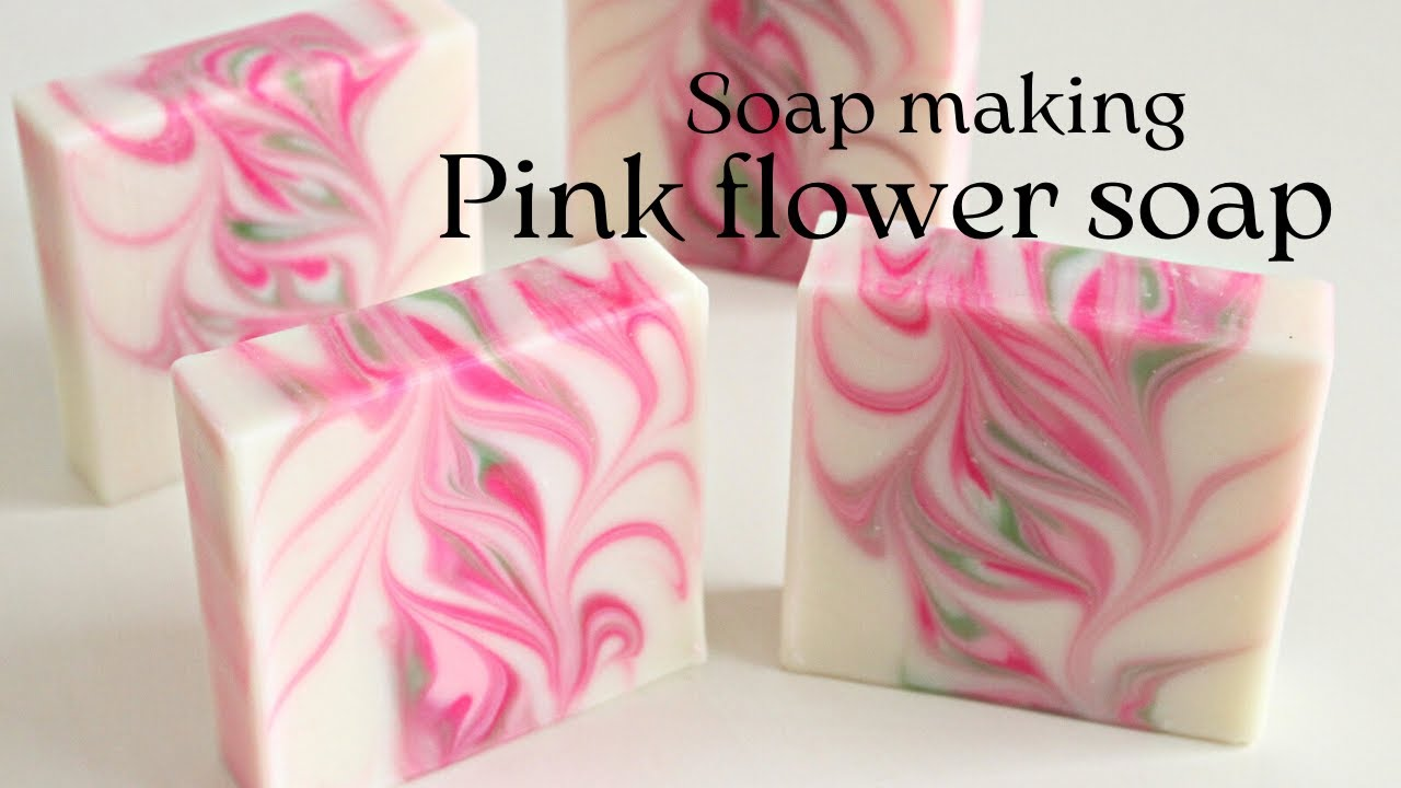 Making The Pink Flower Soap Youtube