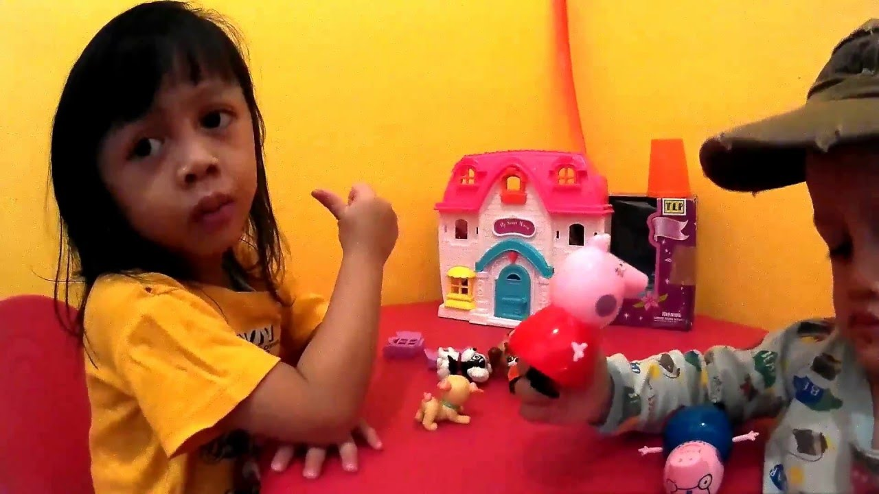 Peppa Pig Family House Mainan Anak Peppa Piq Lucu YouTube