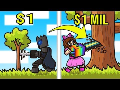 Minecraft: 1 DOLLAR CHAINSAW VS 1,000,000 DOLLAR CHAINSAW!!! Crafting Mini-Game