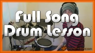 ★ Holiday (Green Day) ★ Drum Lesson PREVIEW | How To Play Song (Tre Cool)