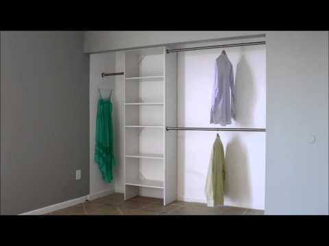 Attirant What Is The Standard Double Closet Rod Height?   YouTube