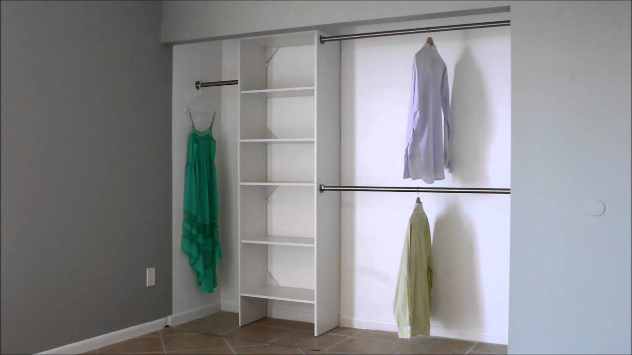 shelf hanging closet burbankneighborhooddesign bar com with rod
