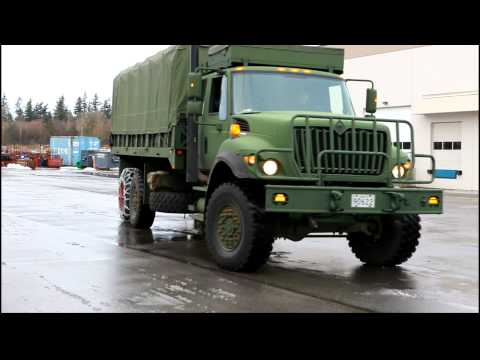 Tire Chain Install on a Military Truck - QCC