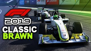 F1 2019 Game - CLASSIC BRAWN RACE AT BRAZIL (F1 2019 Gameplay PC)