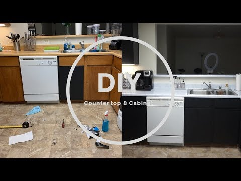 DIY: Countertop & Cabinet | With Only Contact Paper