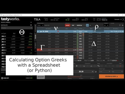 Calculating Option Greeks Using a Spreadsheet (or Python)