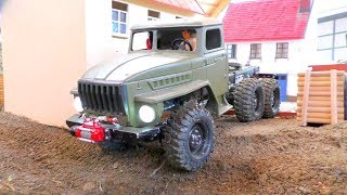 RC Transport! Unique Ural 4320 6x6! Cool RC toys in action! Heavy rc vehicles