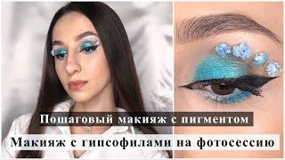 Яркий макияж глаз Макияж с пигментом Tammy Tanuka