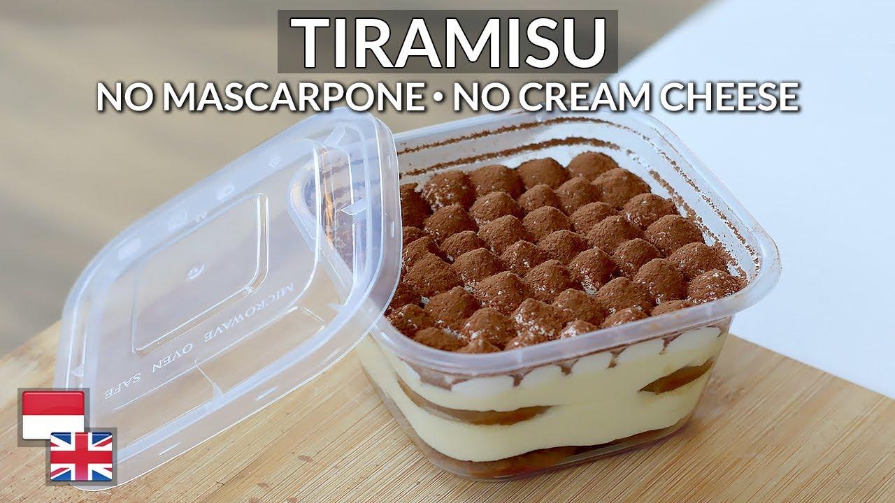 Ekonomis Resep Tiramisu Kualitas Hotel Bahan Lokal Tanpa Mascarpone Cream Cheese Youtube