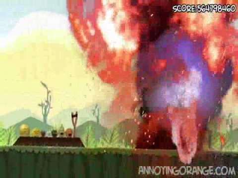 Annoying Orange Death-Zoom Attack-Green Pigs