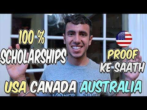 100% Scholarships Abroad: USA Canada Australia | Need-Blind & Need-Aware (With Proof)