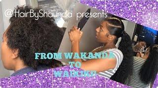 how to put 4C NATURAL HAIR INTO A SLEEK, EXOTIC PONYTAIL! |@HairbyShaunda