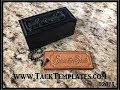 Making Leather Tags using Arbor Press and Delrin Stamp