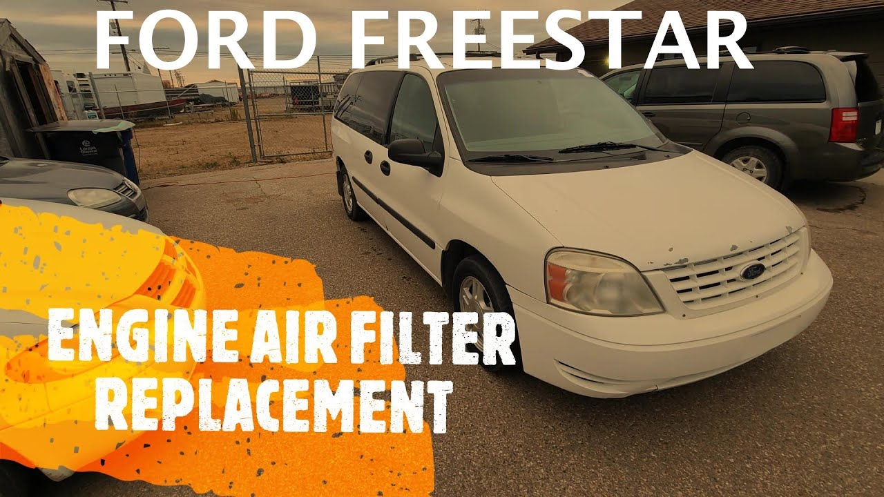 Ford Freestar Engine Air Filter Replacement 2004 2007 Youtube