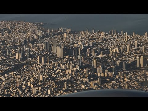 Flight Amman - Tel Aviv: Magnificent Middle East from above