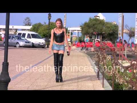 Spanish Walk in my TINY MICRO MINI SKIRT & THIGH BOOTS from YouTube · Duration:  33 seconds