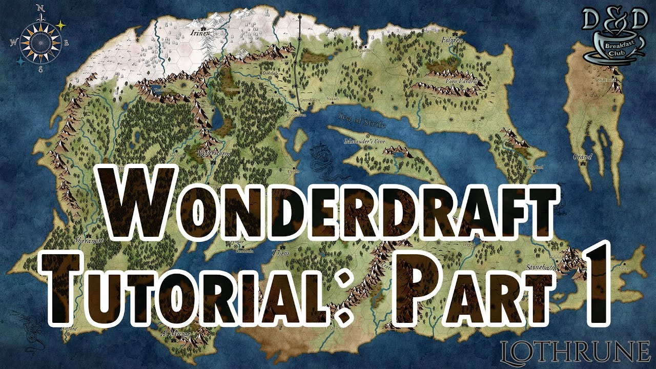 Wonderdraft Tutorial [Part 1 of 4] The Basics - D&D Breakfast Club