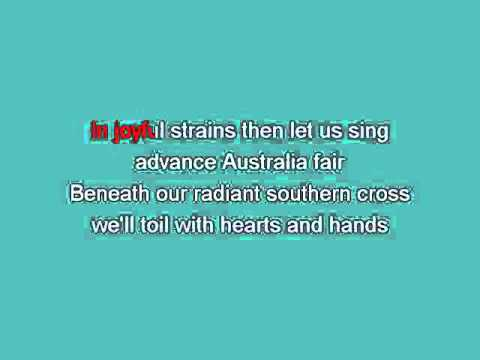 Advance Australia Fair   Traditional2 [karaoke]