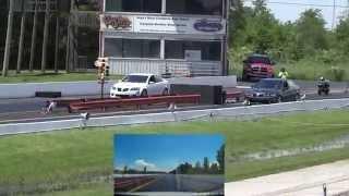 2009 Pontiac G8 GXP vs. G8 GT 1/4 Mile Race