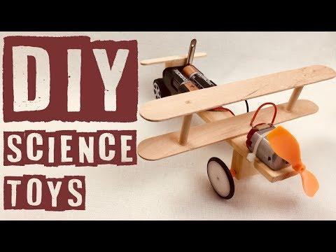 DIY Electric Airplane Toys, Science Toys For kids, El yapimi Uçak modeli, Çocuklar için oyuncak