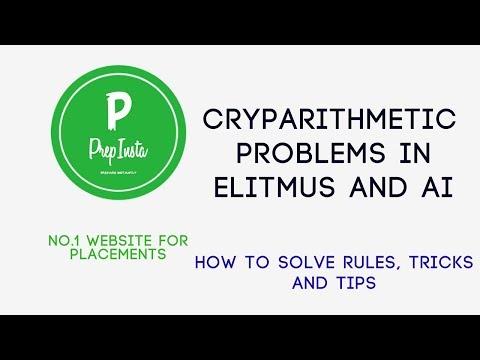 How to Solve Cryptarithmetic Problems eLitmus Basics   PrepInsta