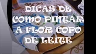 PAP DE COMO PINTAR FLOR COPO DE LEITE