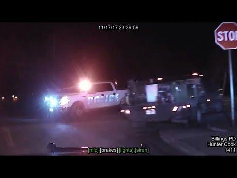 Dashboard video: Billings police fatally shoot man following pursuit (long version)