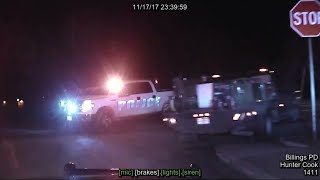Dashboard video: Billings police fatally shoot man following pursuit (long version)