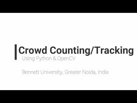 Crowd Counting and Tracking using Background Subtraction