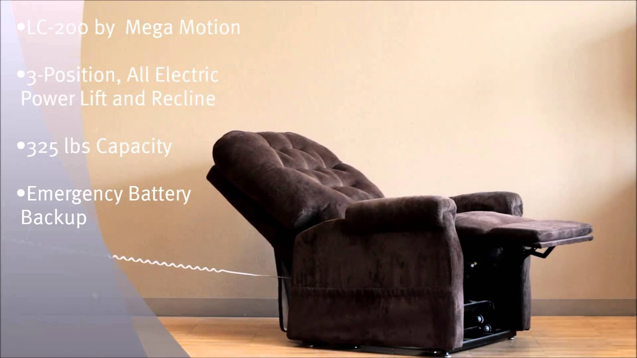 Mega Motion Lift Chairs Posture Armchair Lc200 Chair Power Electric Recliner By Youtube