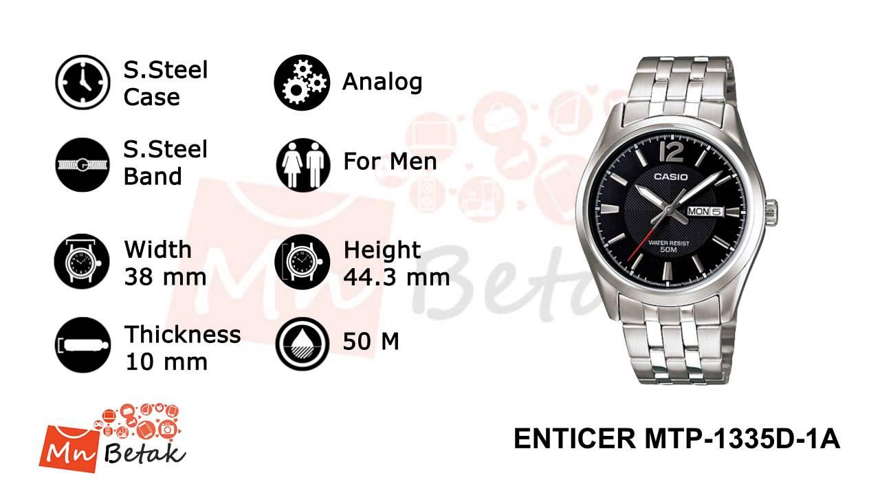 8ab2f71f0 CASIO Watch ENTICER MTP-1335D-1A ساعه يد رجالى كاسيو MnBetak.com Official  Video - YouTube