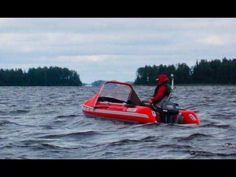 Карелия. Водлозеро. Июль 2019. Лодка НДНД. Azimut Atlas 380.