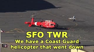 [REAL ATC] Coast Guard chopper CRASH at SFO