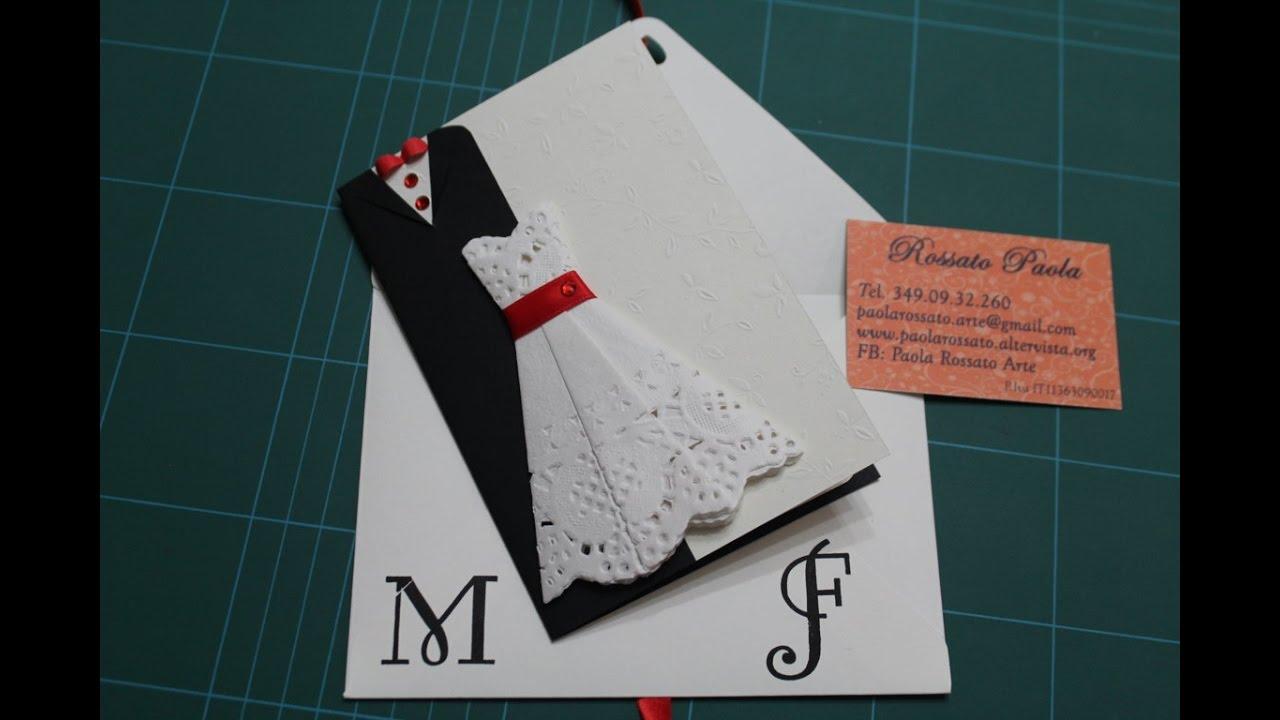 Partecipazioni Matrimonio Youtube.Wedding Card Diy Biglietto Di Auguri Per Un Matrimonio Youtube