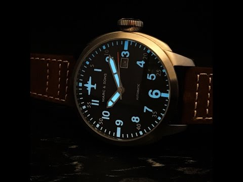Marc and Sons Automatic Pilot Watch Overview