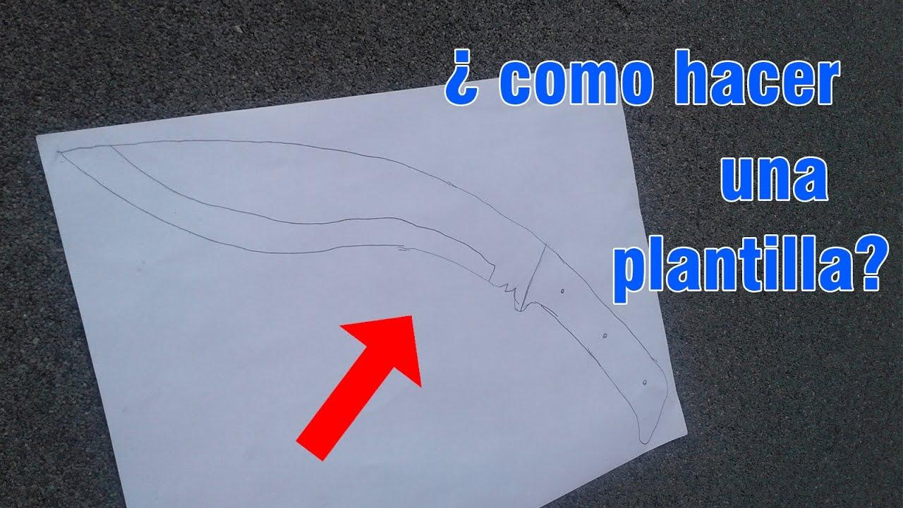 Como hacer una plantilla para cuchillos de imitaci n - Como hacer soporte para cuchillos ...