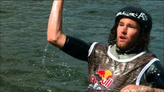 Wakeboard competition on old cargo ship - Red Bull Wake of Steel 2014