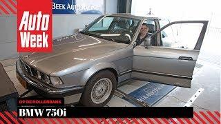 BMW 750i - Op de Rollenbank