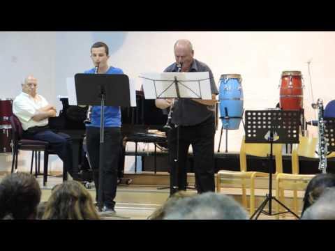 Anatoly Shapiro & Jonathan Samuel- clarinet duet -  july 2014
