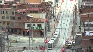 El tranvía de Ayacucho visto desde lo alto