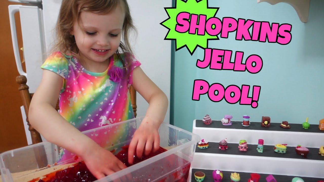 Shopkins Surprise Jello Pool Youtube