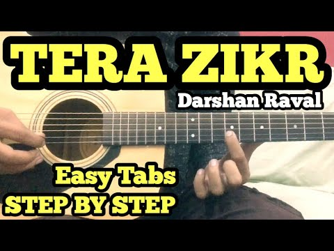 Tera Zikr Guitar Tabs/Lead Lesson With Intro | Darshan Raval | Easy For Beginners