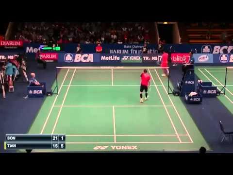 Tian Houwei vs Son Wan Ho | R1 Indonesia Badminton Open 2015  New
