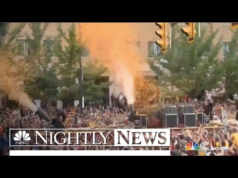 More Than 1 Million Fill Downtown Cleveland To Celebrate NBA Title   NBC Nightly News