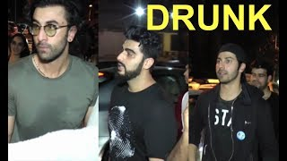 Varun Dhawan,Ranbir Kapoor And Arjun Kapoor DRUNK Video