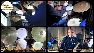 "Left hand phrasing over Afro-Cuban 6/8 ""Bembe"" groove  (Excerpt from Online Drum Workshop #04)"