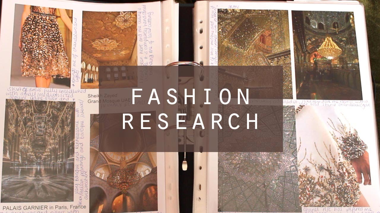 Fashion Design Research File Initial Ideas Colour More 1st Class Degree Youtube