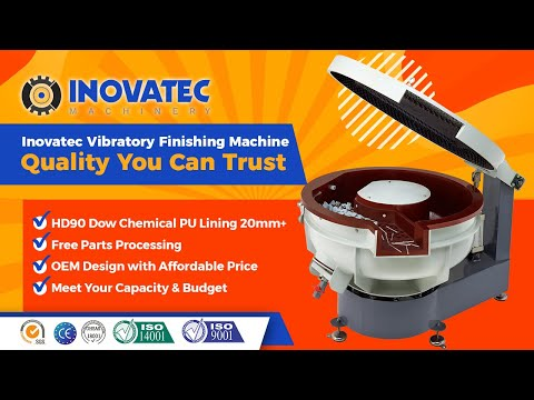 Metal Vibratory Deburring Finishing Polishing Machine With Sound Cover